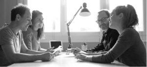 réunion de préparation avec collaborateurs / crédit studios numériques