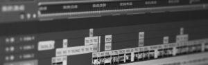 timeline de montage d 'une vidéo