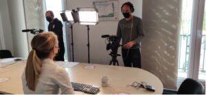 tournage avec interview collaborateur / crédit photo studios numériques